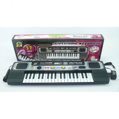 Детский синтезатор пианино с микрофоном (MQ-023 FM)