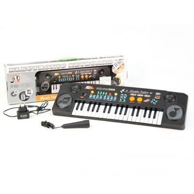 Детский синтезатор с микрофоном, сетевое с USB 37 клавиш (MQ-803)