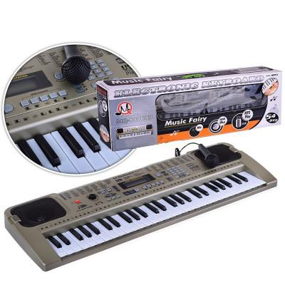 Детское пианино синтезатор с микрофоном, 54 клавиши (MQ-807USB)