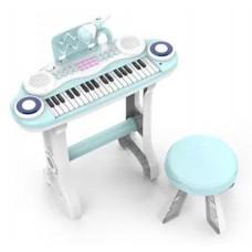 Детский игровой синтезатор, 61 клавиша, MQ-860 F, со стульчиком и микрофоном