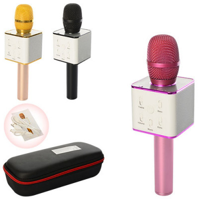 Караоке микрофон Bluetooth беспроводной с чехлом (Q7)
