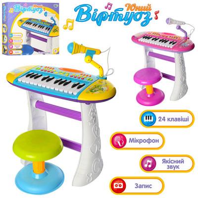 Детский синтезатор Limo Toy (Розовый, Голубой)