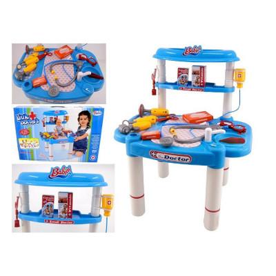 Игровой набор доктора Bambi, со столиком и инструментами (008-03)