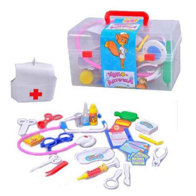 """Детский игровой набор доктора """"Чудо аптечка"""", в чемодане 28 предметов (M 0459 U/R)"""