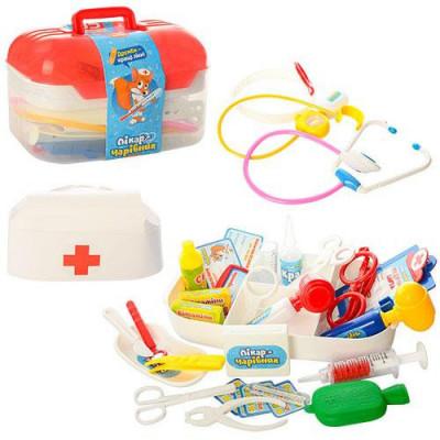 Детский игровой набор доктора в чемодане, 34 предмета (M 0460)