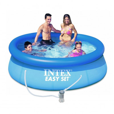 Надувной бассейн Intex 28112 Серия Easy Set 244 x 76 см + насос