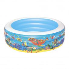 Детский надувной бассейн Bestway 51122 «Аквариум», 196 х 53 см