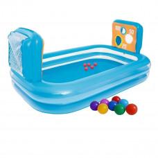 Детский надувной бассейн Bestway 54170 «Тир», 237 х 152 х 94 см, с мячом