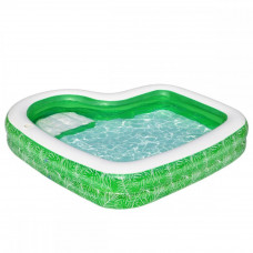 Детский надувной бассейн Bestway 54336 «Тропический рай», 231 х 231 х 51 см, с сиденьем и подстаканником
