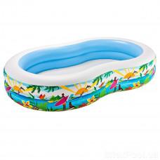 "Надувний басейн Intex 56490 ""Райська лагуна"", 262 * 160 * 46 см"