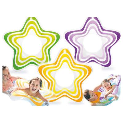 Детский надувной круг Intex Звезда 71см 3 цвета (59243)