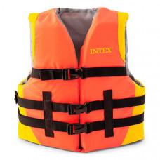 Спасательный жилет детский Intex 69680 - 22-40 кг (Оранжевый)