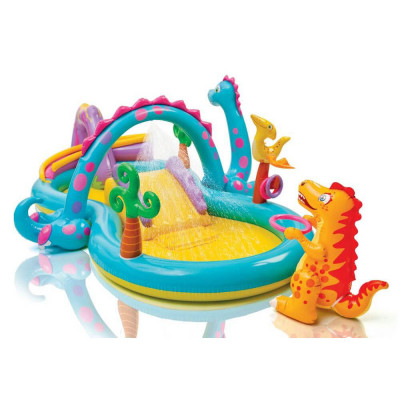 """Водный надувной игровой центр Intex Планета Динозавров """"Dinoland Play Center"""" (57135)"""