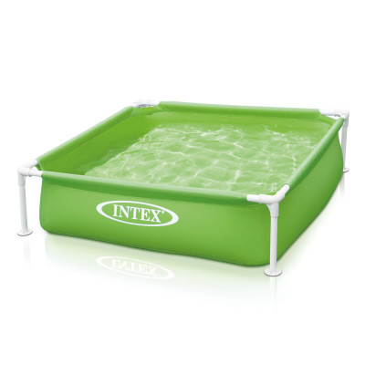 Детский каркасный квадратный бассейн Intex Mini Frame Pool 122x122x30 (57172)
