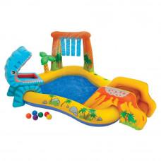 Водный игровой центр Intex Динозавр 57444 мини-бассейн с горкой+ душ