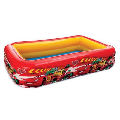Детский надувной бассейн прямоугольный Тачки Intex 166х100х28 см (57478)