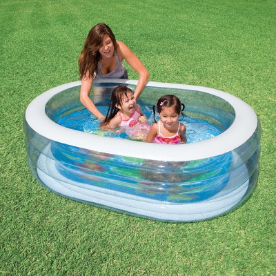 Бассейн детский надувной Нежность Intex 163х107х46 см (57482)