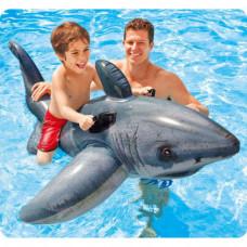 Детский надувной плот Intex 57525 Акула 173х107 см
