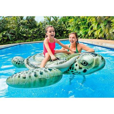 Детский надувной плот Морская черепаха Intex 191х170см (57555)