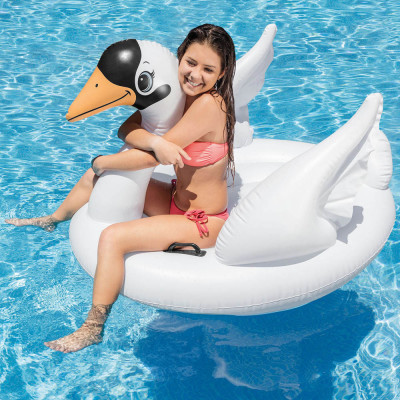 Надувной плотик для плавания Intex Лебедь 102х99 см (57557)