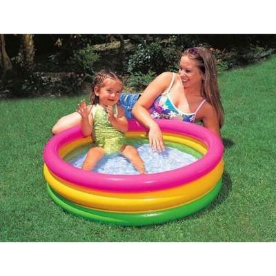 Детский надувной бассейн красочный Intex 86х25см (58924)