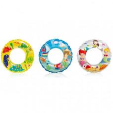 Детский надувной круг Intex Цветной - 61 см