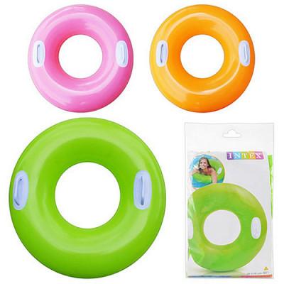 Детский надувной круг Intex Цветной - 76 см (59258)