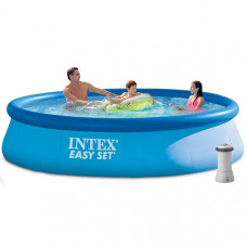 Надувной бассейн Семейный Easy Set Intex 28142 (396 х 84 см)