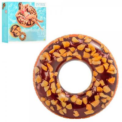 Надувной круг Intex Шоколадный пончик, 114 см