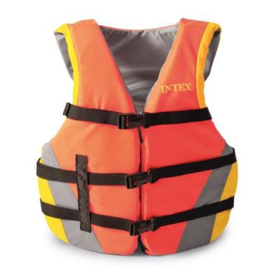 Спасательный жилет взрослый Intex 69681 76-132 см (Оранжевый)