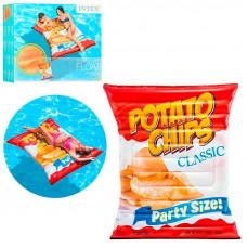Пляжний надувний матрац Intex 58776 «Чіпси», серія «Фастфуд», 178 х 140 см