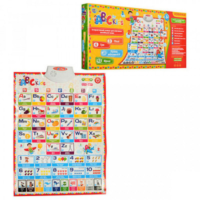 Интерактивный обучающий плакат LimoToy Английский язык (7031Eng)