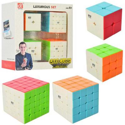 Набор головоломок Кубик Рубика 4 шт 2х2; 3х3; 4х4; 5х5 (EQY526)