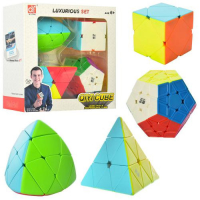 Набор головоломка Кубика рубика Пирамида 4 шт (EQY528)