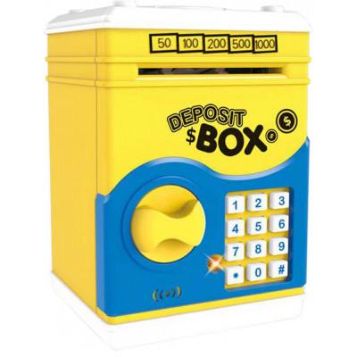 Сейф копилка с кодовым замком Deposit Box свет, звук (MD 66069)