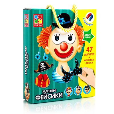 """Магнитная игра Смешные лица """"Фейсики"""" Vladi Toys"""