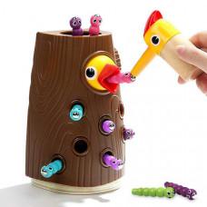 Магнитная игра с червячками Top Bright - Накорми птенца