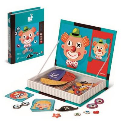 Магнитная книга-игра Magnetic book (Стилист, клоун)