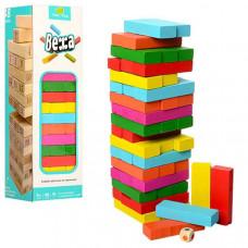 Деревянная игра Джанга цветная Вежа - 26 см