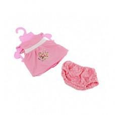 Одежда для кукол Беби Борн Розовая майка и шортики