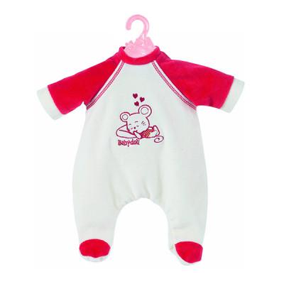 Одежда для кукол Беби Борн Комбинезон мягкий, белый с красным (BJ-10-2)