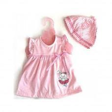 Одежда для кукол Беби Борн Розовое платье с шапочкой