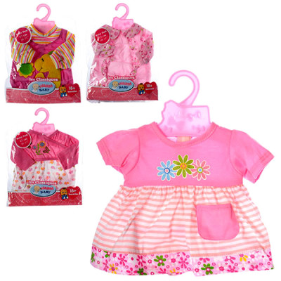 Одежда для пупса Беби Борн Платье розовое с кармашком (BJ-17-1)