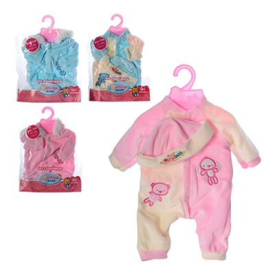 Одежда для кукол Беби Борн Baby Born Комбинезон с шапочкой, 4 вида (BJ-401A-B-J001-1-3)