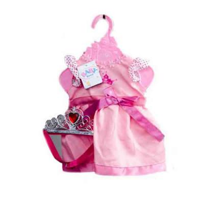 Одежда для кукол Беби Борн Розовое платье с короной (BLC14-08-02-A)