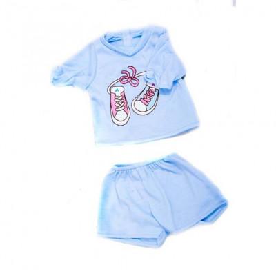 Одежда для кукол Голубая кофточка с кедами и шортики (DBJ-434-2)