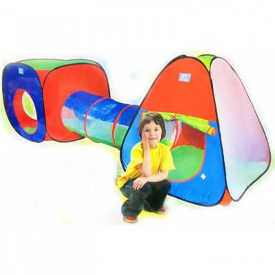 Детская двойная игровая палатка с тоннелем 3в1 (2958)