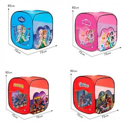 Детская игровая палатка Любимые герои - 4 вида (размер 72х72х82 см)