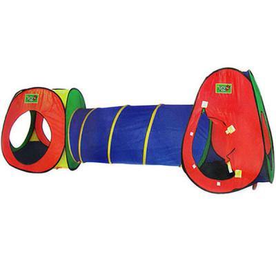 Детская большая двойная палатка с тоннелем (5015)