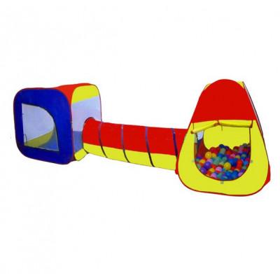 Детская большая двойная палатка с тоннелем (5025)